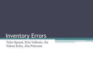 Inventory Errors
