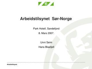 Arbeidstilsynet  S�r-Norge