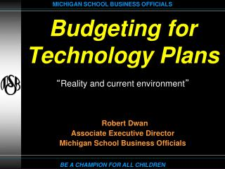 Budgeting for Technology Plans