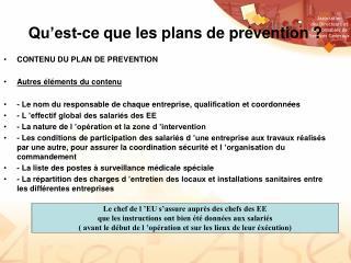 Qu'est-ce que les plans de prévention ?