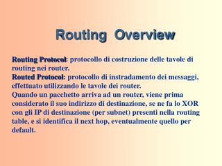 Routing   O verview