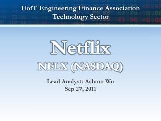 Netflix NFLX (NASDAQ)
