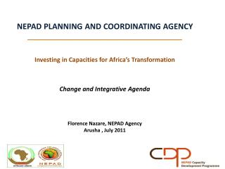NEPAD PLANNING AND COORDINATING AGENCY _____________________________________