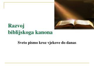 Razvoj  biblijskoga kanona