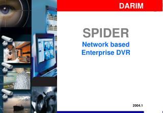 SPIDER Network based Enterprise DVR