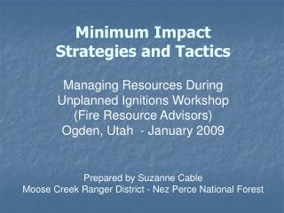 Minimum Impact