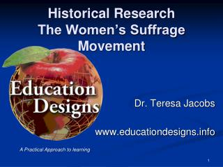 Historical Research The Women�s Suffrage Movement