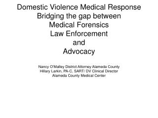 Bridging GAPS Advocacy and Law  Enforcement