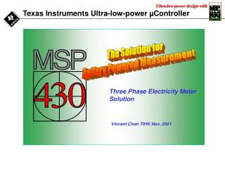 Texas Instruments Ultra-low-power �Controller
