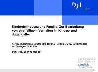 """""""Kinderdelinquenz und Familie"""""""