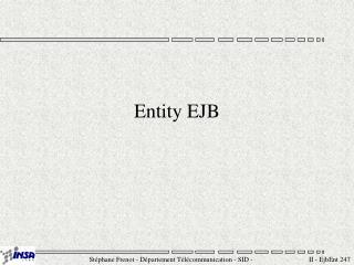 Entity EJB