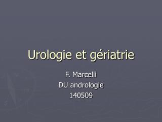 Urologie et gériatrie