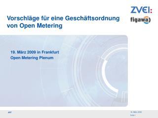 Vorschläge für eine Geschäftsordnung von Open Metering