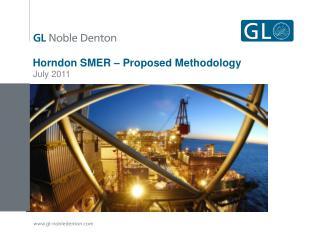 Horndon SMER – Proposed Methodology
