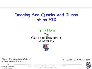 Imaging Sea Quarks and Gluons  at an EIC