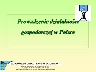 Prowadzenie działalności gospodarczej w Polsce