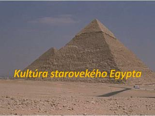 Kultúra starovekého Egypta