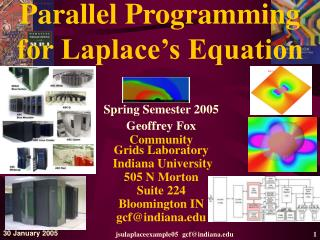 Parallel Programming  for Laplace s Equation