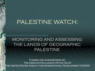 PALESTINE WATCH: