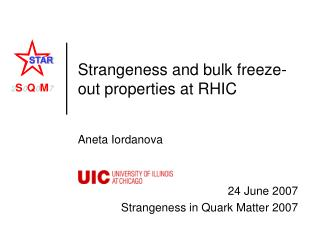 Strangeness and bulk freeze-out properties at RHIC