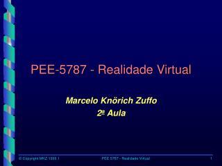 PEE-5787 - Realidade Virtual