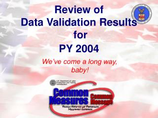 Review of  Data Validation Results  for  PY 2004