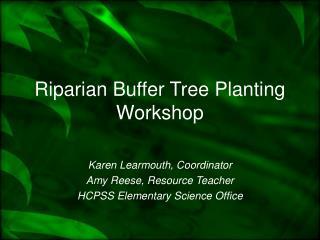 Riparian Buffer Tree Planting Workshop