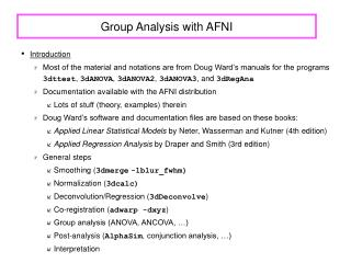 Group Analysis with AFNI