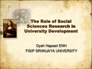 The Role of Social Sciences Research in University Development