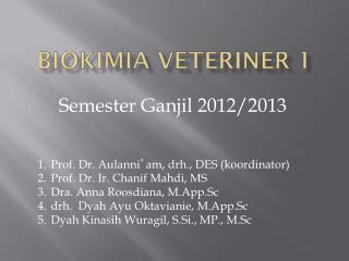 Biokimia Veteriner 1