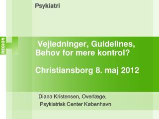 Vejledninger, Guidelines,  Behov for mere kontrol? Christiansborg 8. maj 2012