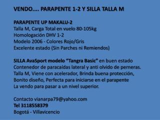Vendo+Parapente+1 2+Talla+M