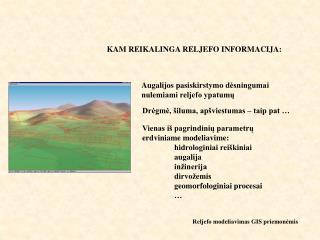 Reljefo modeliavimas GIS priemonėmis