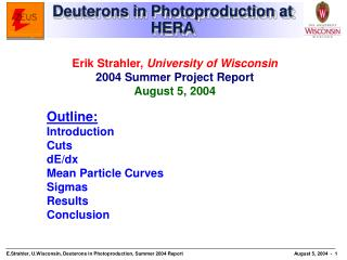 Deuterons in Photoproduction at HERA