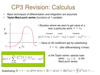 CP3 Revision: Calculus