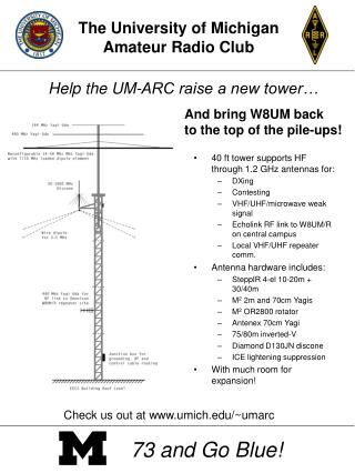 Help the UM-ARC raise a new tower…