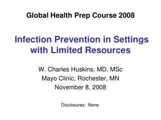 Global Health Prep Course 2008