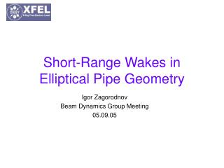 Short-Range Wakes in Elliptical Pipe Geometry