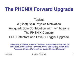The PHENIX Forward Upgrade