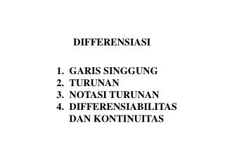 DIFFERENSIASI