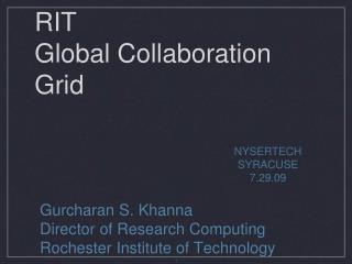 RIT Global Collaboration Grid