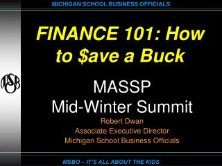 FINANCE 101: How to $ave a Buck