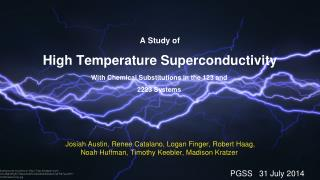 A Study of  High Temperature Superconductivity