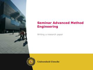 Seminar  Advanced Method  Engineering