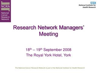 Research Network Managers' Meeting
