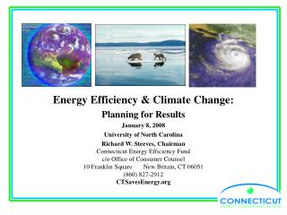 Energy Efficiency & Climate Change: Planning for Results January 8, 2008