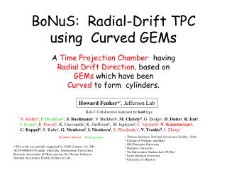 BoNuS:  Radial-Drift TPC using  Curved GEMs