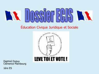 Dossier ECJS