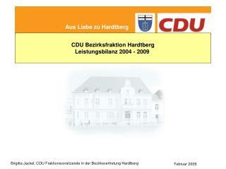 Leistungsbilanz der CDU Hardtberg Wahlprogramm 2004-2009 gesagt - getan