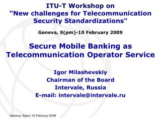 Secure Mobile Banking as Telecommunication Operator Service